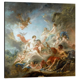 Aluminium print  The Forge of Vulcan - François Boucher