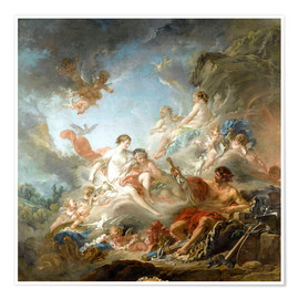 Premium poster  The Forge of Vulcan - François Boucher