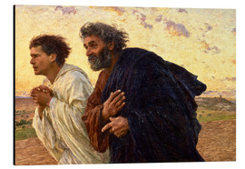 Aluminium print  The disciples Peter and John - Eugene Burnand