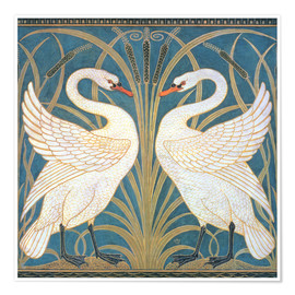 Walter Crane - Swan, Rush and Iris