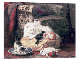 Forex  Cat with her Kittens on a Cushion - Henriette Ronner-Knip