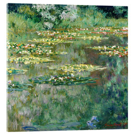 Acrylic print  The waterlily pond - Claude Monet
