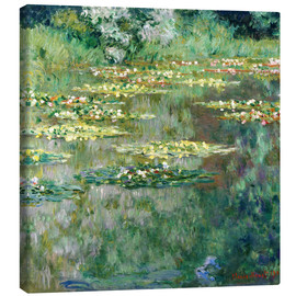 Canvas  The Waterlily Pond - Claude Monet