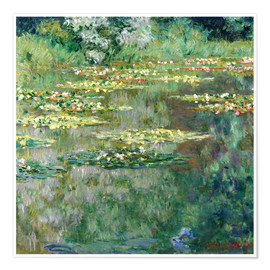 Premium poster  The waterlily pond - Claude Monet