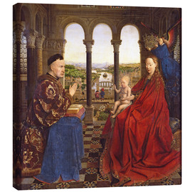 Canvas print  The Rolin Madonna - Jan van Eyck