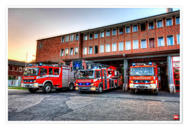 Premium poster  Fire station in Germany - Markus Will