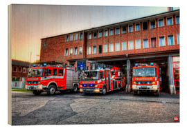Wood print  Fire station in Germany - Markus Will