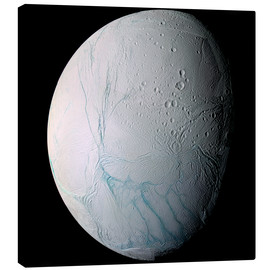 Canvas print  Saturn's moon Enceladus