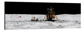 Aluminium print  Apollo 16 lands in the lunar highlands