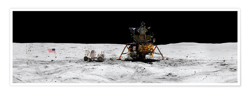 Premium poster Apollo 16 lands in the lunar highlands