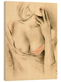 Wood  Aphrodite the modern - erotic woman picture - Marita Zacharias