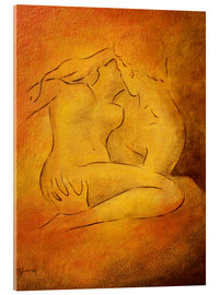 Acrylic print  Flaming passion, couple in love - Marita Zacharias