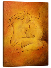 Canvas  Flaming passion - lovers - Marita Zacharias