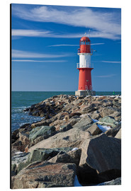 Aluminium print  Lighthouse on the Baltic Sea coast in Warnemuende (Germany) - Rico Ködder