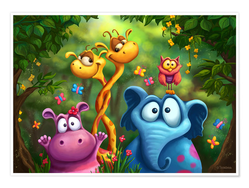 Poster Jungle animals