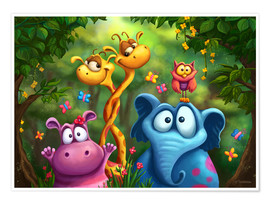 Premium poster  Jungle animals - Tooshtoosh