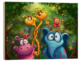 Wood  Jungle animals - Tooshtoosh