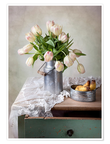 Premium poster Still life with tulips
