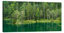 Canvas print  Green Lake - Rainer Mirau