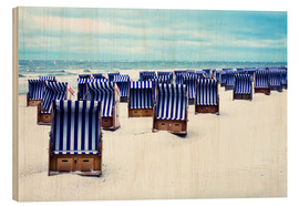 Wood print  blue summer - Timo Geble