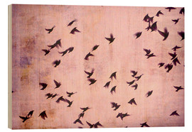 Wood print  Flying South - Friederike Alexander