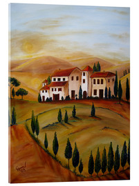 Acrylic print  Sunrise in Tuscany - Christine Huwer