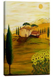 Canvas print  Sunflowers in Tuscany - Christine Huwer