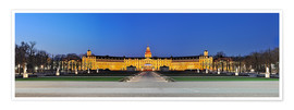 Premium poster Panoramic view of palace Karlsruhe Germany