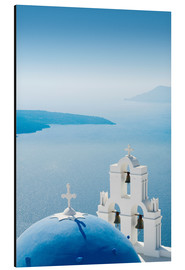 Aluminium print  Church Santorini Greece - Mayday74