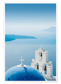 Premium poster  Church Santorini Greece - Mayday74