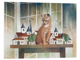 Foam board print  View of the cat - Franz Heigl