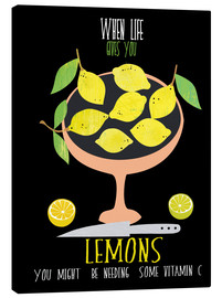 Canvas print  When live gives you lemons - Elisandra Sevenstar