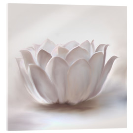 Acrylic glass  White lotus - Christine Ganz