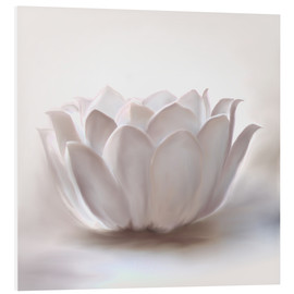 Foam board print  White lotus - Christine Ganz