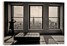 Wood print  New York, Top of the Rock - Thomas Splietker