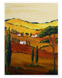 Premium poster  Tuscany Mini - Christine Huwer