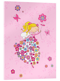 Acrylic print  Flower Princess - Fluffy Feelings