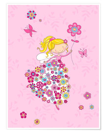Premium poster Flower Princess