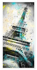 Premium poster City Art PARIS Eiffeltower IV