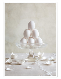Premium poster  Still Life with Eggs - Nailia Schwarz