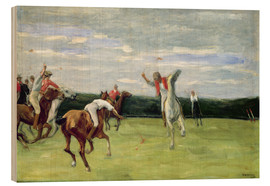 Wood print  Polo players in Jenischpark - Max Liebermann