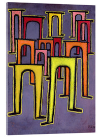 Acrylic print  Revolution of the Viaduct - Paul Klee