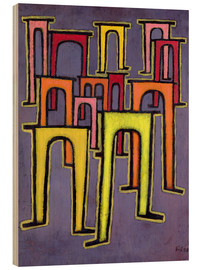 Wood print  Revolution of the Viaduct - Paul Klee