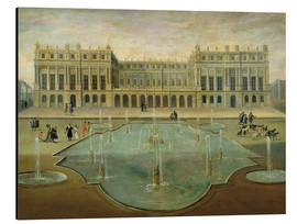 Aluminium print  Chateau de Versailles from the Garden Side - French School