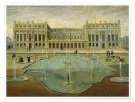 Premium poster Chateau de Versailles from the Garden Side