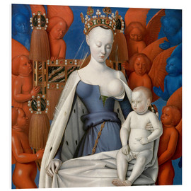 Foam board print  Virgin and Child Surrounded by Angels - Jean Fouquet