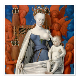 Premium poster  Virgin and Child Surrounded by Angels - Jean Fouquet