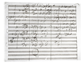 Acrylic print  Score for the 3rd Movement of the 5th Symphony - Ludwig van Beethoven