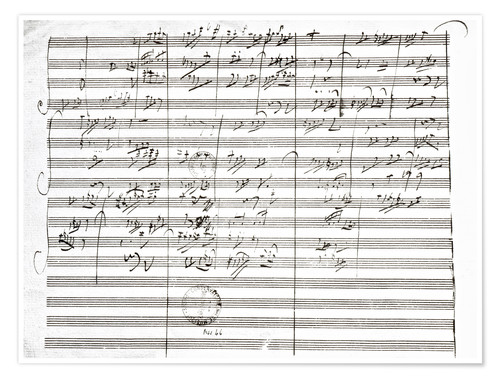 Premium poster Score for the 3rd Movement of the 5th Symphony