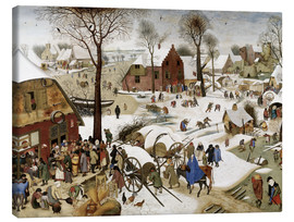 Canvas print  Census at Bethlehem - Pieter Brueghel d.Ä.